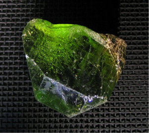Together with diamonds, peridots are also found in the earth's mantle