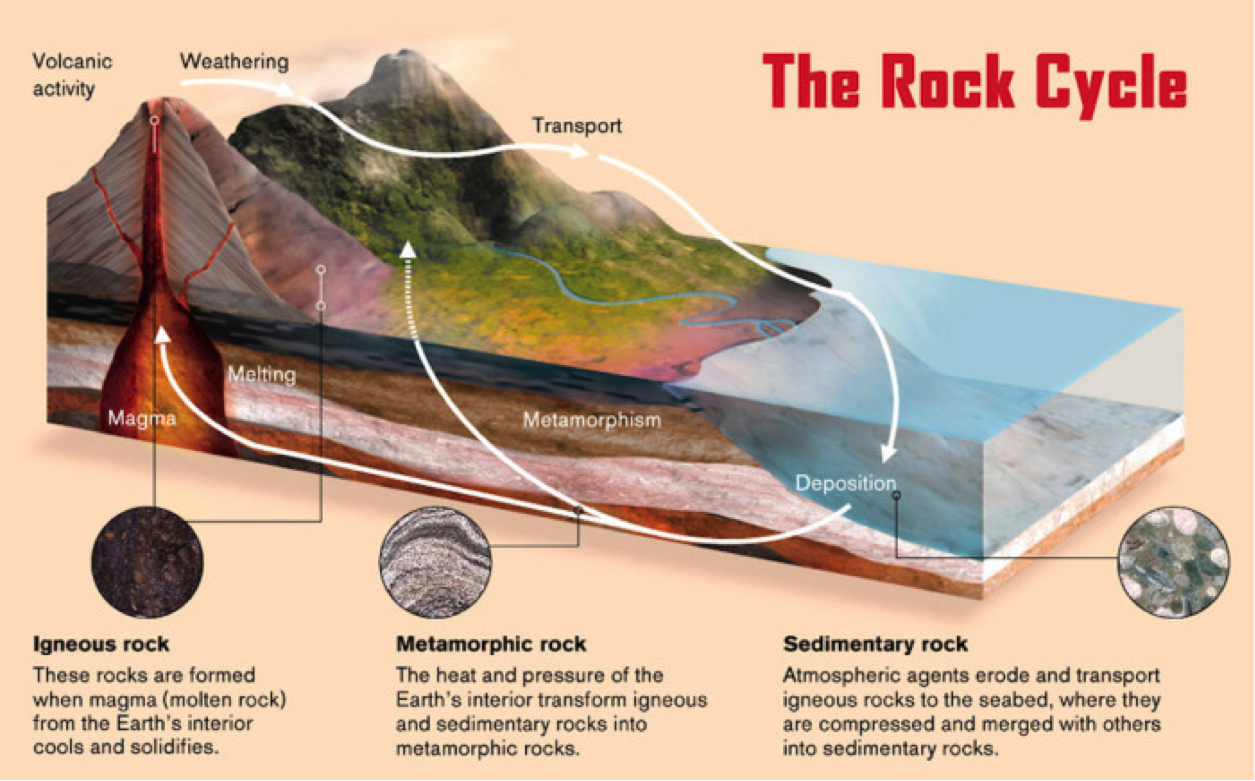 The rock cycle the gem museum rock cycle diagram pooptronica Images