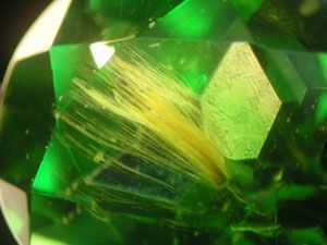 demantoid garnet horsetail