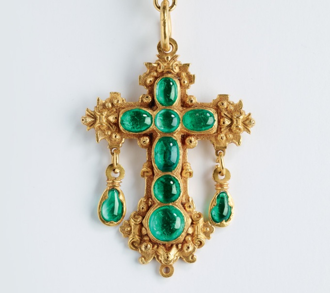 Colombian emerald pendant
