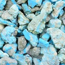 turquoise ornamental rough